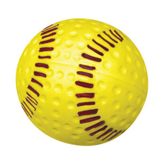 Optic Yellow, Dimpled Seamed Polyurethane Softball