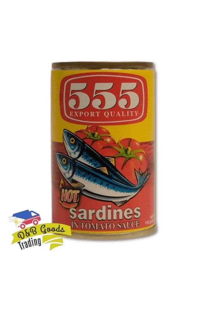 555 Canned Goods 555 Sardines in TS Chili (Small)