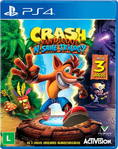 Jogo PS4 - Crash Bandicoot N. Sane Trilogy