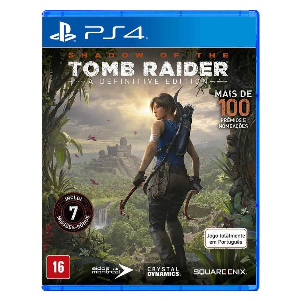 Jogo PS4 - Shadow of The Tomb Raider Definitive Edition