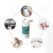 Load image into Gallery viewer, 100Pcs/Set Disinfection Wipes Pads Alcohol Swabs Wet Wipes Skin Cleaning Care Sterilization First Aid Cleaning Tissue Box