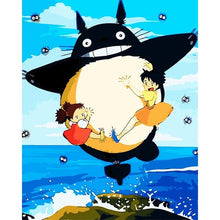 Load image into Gallery viewer, The totoro series cartoon frameless Painting By Numbers Modern Wall Art Picture Paint By Numbers Unque Gift For Home Decor - ColourMyLife