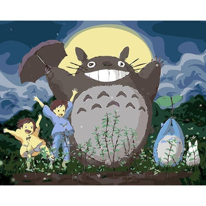 The totoro series cartoon frameless Painting By Numbers Modern Wall Art Picture Paint By Numbers Unque Gift For Home Decor - ColourMyLife