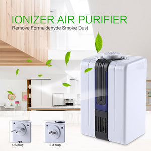 Home Ionizer Purifiers Ozonator Air Cleaner Oxygen Purify Kill Bacteria Virus Clear Peculiar Smell Smoke - ColourMyLife