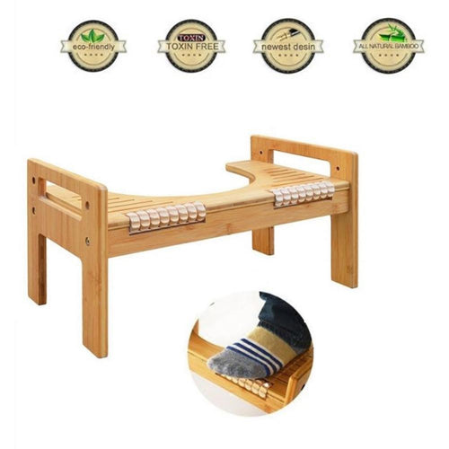 Adjustable Bamboo U-Shaped Squatting Toilet Stool Non-Slip Pad Bathroom Helper Assistant Footseat Relieves Constipation Piles - ColourMyLife