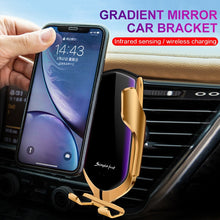 Load image into Gallery viewer, R1 Automatic Clamping 10W Wireless Charger Car Holder Smart Infrared Sensor Qi GPS Air Vent Mount Mobile Phone Bracket Stand - ColourMyLife