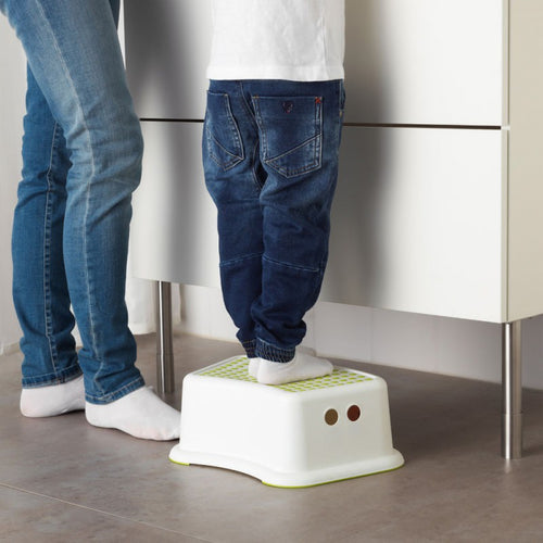 drop shipping Children bathroom stool slip-resistant step pads anti-skid headblock foot pedal steps bath stair toilet stool - ColourMyLife