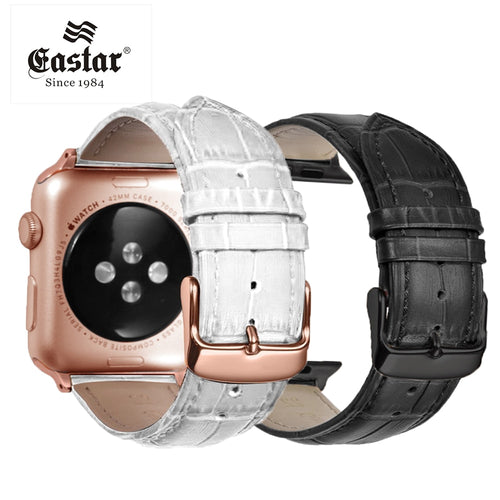 Eastar Pink Black Buckle Watchband for Apple Watch Band Series 4/3/2/1 Leather Bracelet 42mm 38mm Strap For iwatch 5 Band 44mm - ColourMyLife