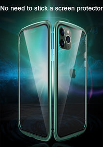 Magnetic 360 Full Protective Case For iphone 11 case Metal Coque Funda For iphone 11 pro max case Cover Tempered Glass Bumper - ColourMyLife