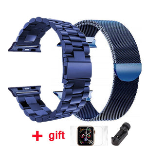 strap for Apple watch band 42mm 38mm Milanese Loop iWatch band 44 mm 40mm Stainless steel bracelet Apple watch Accessories - ColourMyLife