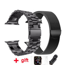 Load image into Gallery viewer, strap for Apple watch band 42mm 38mm Milanese Loop iWatch band 44 mm 40mm Stainless steel bracelet Apple watch Accessories - ColourMyLife