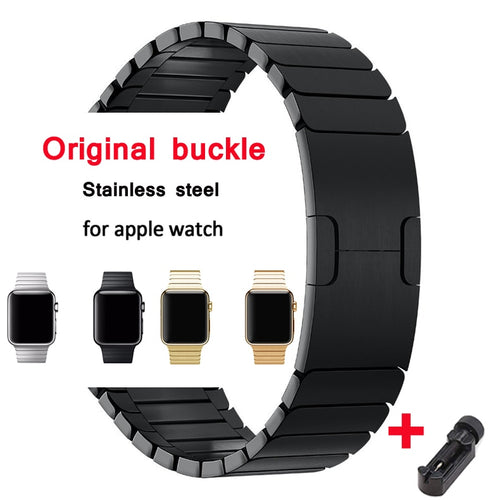 link bracelet for apple watch band strap 42mm 38mm apple watch 4 iwatch belt 44mm 40mm 3 2 1 stainless steel metal watchband - ColourMyLife