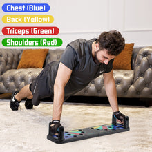 Load image into Gallery viewer, 9 in 1 Push Up Board Home Gym Comprehensive Exerciser Foldable Adjustable push up Rack Stand Body Building Fitness Equipment