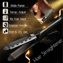 Load image into Gallery viewer, Hair Care Hair Straightener Four-gear temperature adjustment Ceramic Tourmaline Ionic Flat Iron Hair Straightener For Women