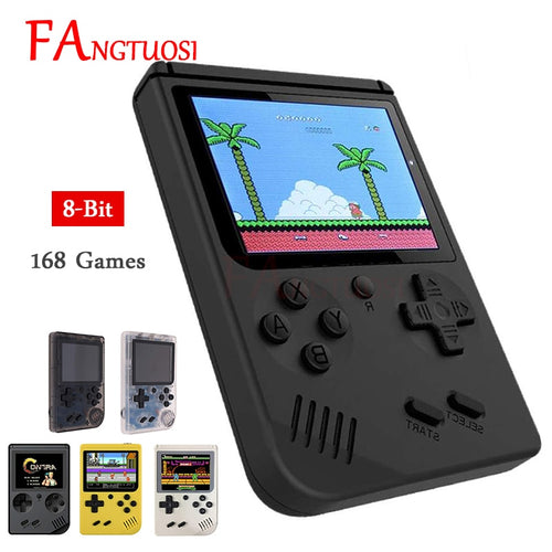 FANGTUOSI Video Game Console 8 Bit Retro Mini Pocket Handheld Game Player Built-in 168 Classic Games for Child Nostalgic Player - ColourMyLife