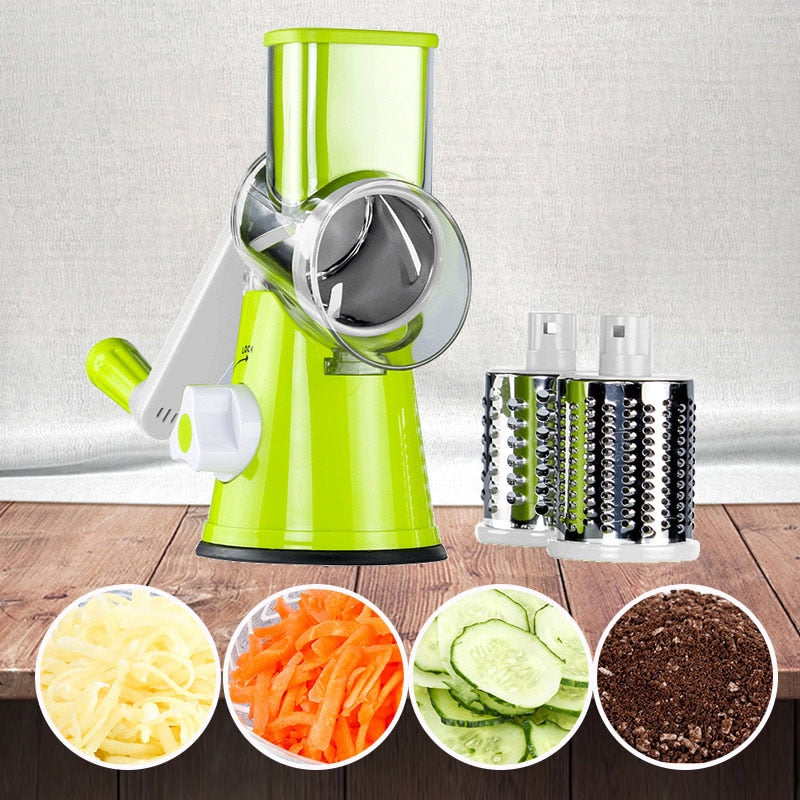 Multi-function rotary grater vegetable shredded potato machine vegetable grater manual cabbage kitchen knife kitchen tool - ColourMyLife