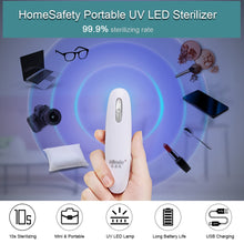 Load image into Gallery viewer, HomeSafety Portable UV LED Sterilizer Mini UV Lamp Disinfector Ultraviolet Light Electric Sanitizer for Home Hotel Travel Use - ColourMyLife