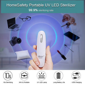 HomeSafety Portable UV LED Sterilizer Mini UV Lamp Disinfector Ultraviolet Light Electric Sanitizer for Home Hotel Travel Use - ColourMyLife