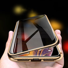 Load image into Gallery viewer, Magnetic Metal Adsorption Privacy Tempered Glass Case For iPhone 7 8 Plus 11 Pro XS Max XS X XR 6 6s 7 8 Double sided Case Cover - ColourMyLife