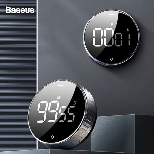 Baseus LED Digital Kitchen Timer For Cooking Shower Study Stopwatch Alarm Clock Magnetic Electronic Cooking Countdown Time Timer - ColourMyLife