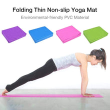 Load image into Gallery viewer, 4MM Foldable Yoga Mat Non-slip Gym Fitness Mat Pilates Camping Carpet Mat For Beginner free yoga sock
