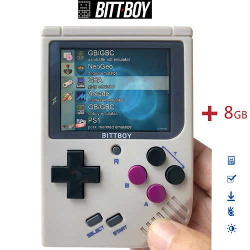 Retro Video Game, BittBoy V3.5+8GB/32GB, Game console, Handheld game players, Console retro, Load more games from SD card - ColourMyLife