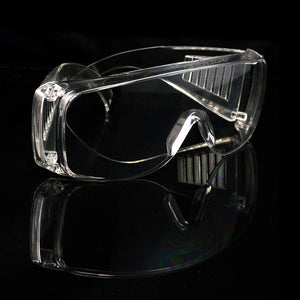 PC Hard Clear Anti dust Eye Protective Safety Goggles Glasses Anti Pollution Lightweight Spectacles for Factory Lab Work Outdoor