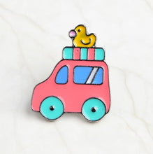 Load image into Gallery viewer, Creative Bicycle Electric Vehicle Car Enamel Brooch Planet Hot Air Balloon Rocket Spacecraft Airline Ticket Badge Cartoon Pin - ColourMyLife