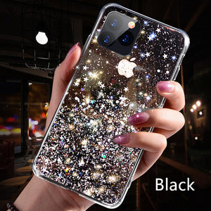 Luxury Bling Glitter Phone Case For iPhone 11 Pro X XS Max XR Soft Silicon Cover For iPhone 7 8 6 6S Plus Transparent Cases Capa - ColourMyLife