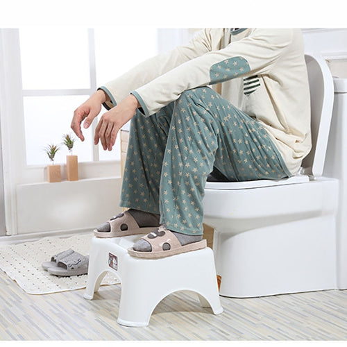 Toilet Footstool Bathroom Squatting Stools For Kids Adul Anti Constipation Toilet bowl step stool Plastic Thicken Step Stool - ColourMyLife