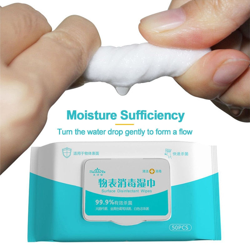 50pcs/box Disinfection Antiseptic Pads Alcohol Swabs Wet Wipes Skin Cleaning Care Sterilization First Aid Cleaning Tissue Box - ColourMyLife