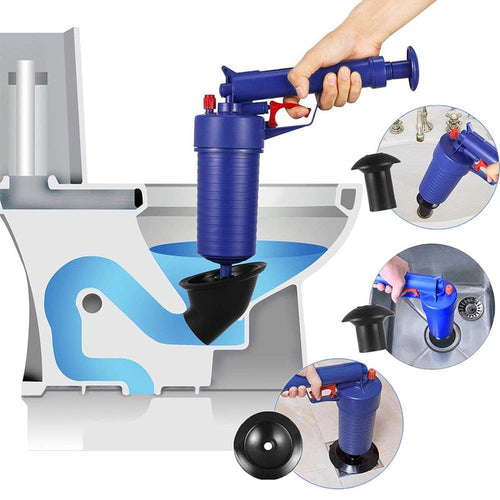 New High Pressure Powerful Manual Air Unblocker Drain Blaster / Gun Pump / Cleaner / Opener Uncover Toilet Plunger - ColourMyLife