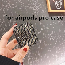 Load image into Gallery viewer, HOT Luxury 3D Bling diamonds Glitter hard case for Apple Airpods Pro 1 2 3 Wireless Bluetooth Earphone Accessories cute cover - ColourMyLife