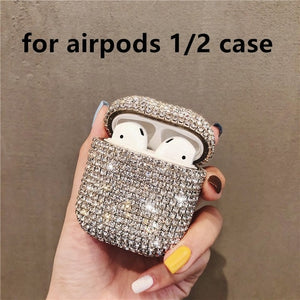 HOT Luxury 3D Bling diamonds Glitter hard case for Apple Airpods Pro 1 2 3 Wireless Bluetooth Earphone Accessories cute cover - ColourMyLife