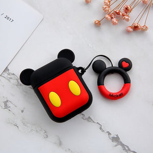 Cute Cartoon Earphone Case For Airpods 2 1 Case Wireless Bluetooth Headphones Case Cute Minnie Mickey Headsets Protective Cover - ColourMyLife
