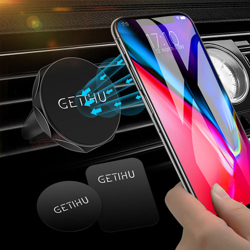 Car Holder Mini Air Vent Mount Magnet Magnetic Cell Phone Mobile Holder Universal Bracket Stand For iPhone Max Xr Xs X 8 7 6s 6 - ColourMyLife