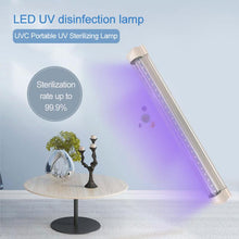 Load image into Gallery viewer, Rechargeable UV lamp Quartz Germicidal Disinfection UV light Sterilize bacterial Kill Mite Ultraviolet Light Lamp  For Bedroom