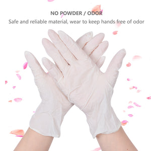 50PCS Black Disposable Gloves Latex Dishwashing/Kitchen/Medical /Work/Rubber/Garden Gloves Universal For Both Hands - ColourMyLife