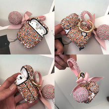 Load image into Gallery viewer, For Apple Airpods Case Luxury Diamond Rhinestone Case With Hanging Ball Keychain Charging Box Protector Covers For Airpods2 case - ColourMyLife