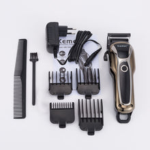 Load image into Gallery viewer, Professional Hair Trimmer Rechargeable Electric Hair Clipper Men's  Haircut Adjustable Cordless  Electric shaver hair clipper