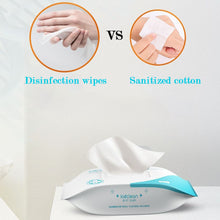 Load image into Gallery viewer, Portable Disinfection Antiseptic Pads Alcohol Swabs Wet Wipes Skin Cleaning Care Sterilization First Aid Cleaning Tissue Box Hot