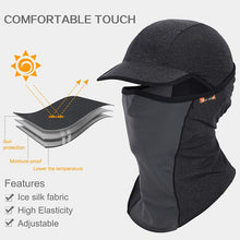 Load image into Gallery viewer, Outdoor Sport Hiking Visor Ice Silk Sun Hat Cycling Mask Head Scarf Quick-drying UV Protection Face Neck Cover Breathable Mask
