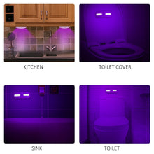 Load image into Gallery viewer, UV Sterilizer Lamp Disinfection Lamp Motion Detection 3 Mode LED Night Lamp Bulb for Kitchen Bathroom Toilet