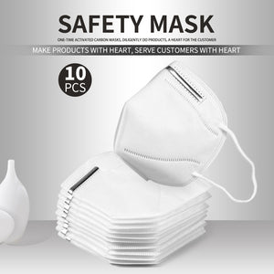 10pcs/5PCS KN95 Facemask 95% Filtration Adults Kn95 Face Mask Anti-Dust PM2.5 Fog 3 Filter Safety Protective