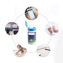 Load image into Gallery viewer, 60 Pcs/Bottle Disposable Alcohol Wet Wipes Antiseptic Cleanser Cleaning Sterilization For Hand Face Toys Cleansing Wet Wipes