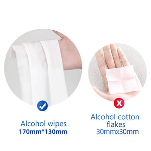 60Pcs Alcohol Prep Pads Disposable Alcohol Wipes 75% Alcohol Sheet For Skin Cleaning Care Jewelry Mobile Phone Clean