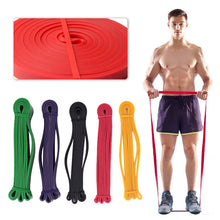 Load image into Gallery viewer, Unisex Resistance Band Exercise Elastic Rubber String Band Workout Loop Strength Pilates Fitness Equipment Training Expander