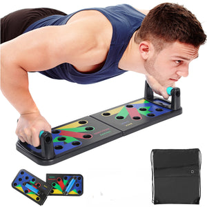 9 in 1 Push Up Board Home Gym Comprehensive Exerciser Foldable Adjustable push up Rack Stand Body Building Fitness Equipment