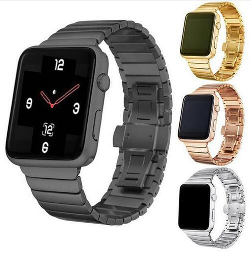 Luxury Stainless Steel Buckle Metal Strap for Apple Watch band 38mm 42mm 40mm 44mm Strap for iwatch Series 5 4 3 2 1 - ColourMyLife