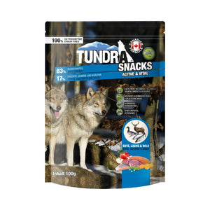 Tundra Dog Snack Active and Vital Duck, Salmon, Game